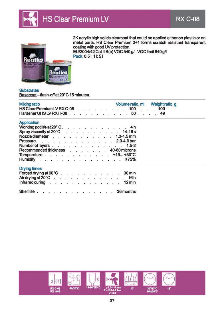 Reoflex HS Clear Coat Premium Anti-Scratch LV 2+1